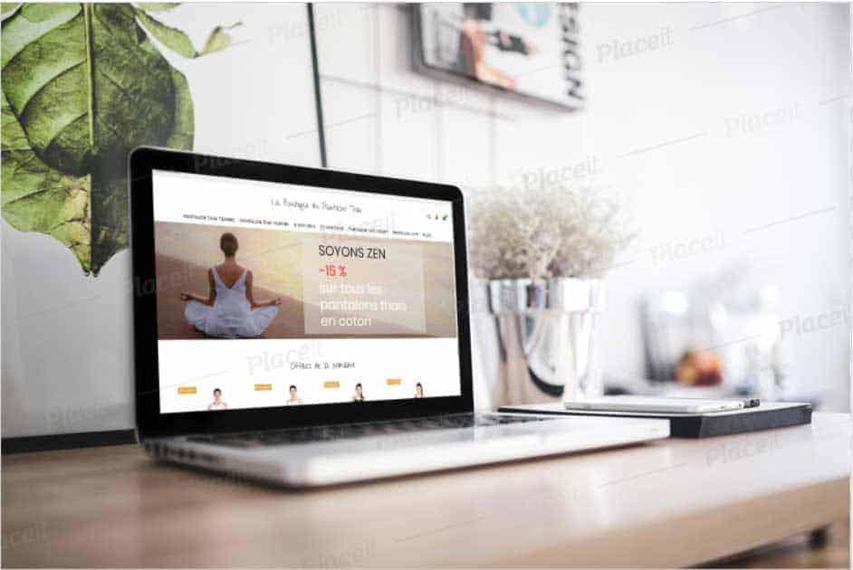 Création du site La boutique du pantalon thaï