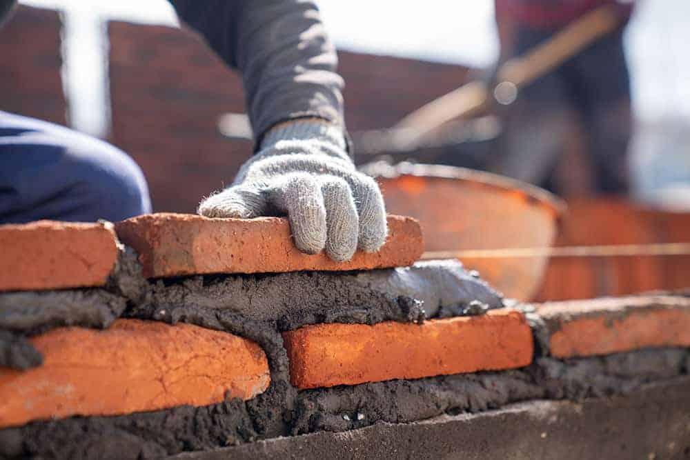 Mur en brique maçonnerie